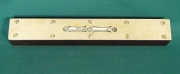 9 inch Level with fancy brass top, rosewood body - Product Image